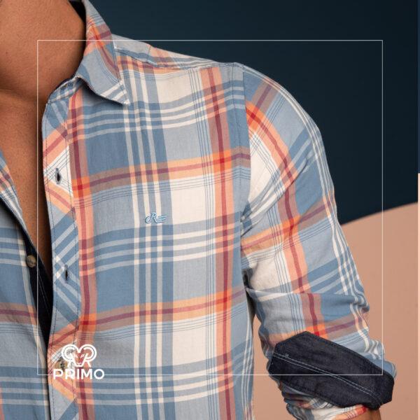 پیراهن پنبه چهارخانه 236105
