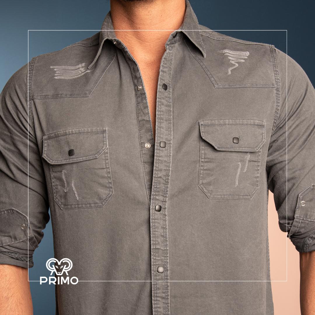 پیراهن کتان آستین بلند ۲۳۶۴۰۷