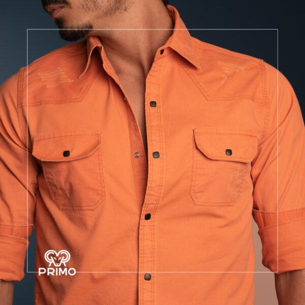 پیراهن کتان آستین بلند 236401