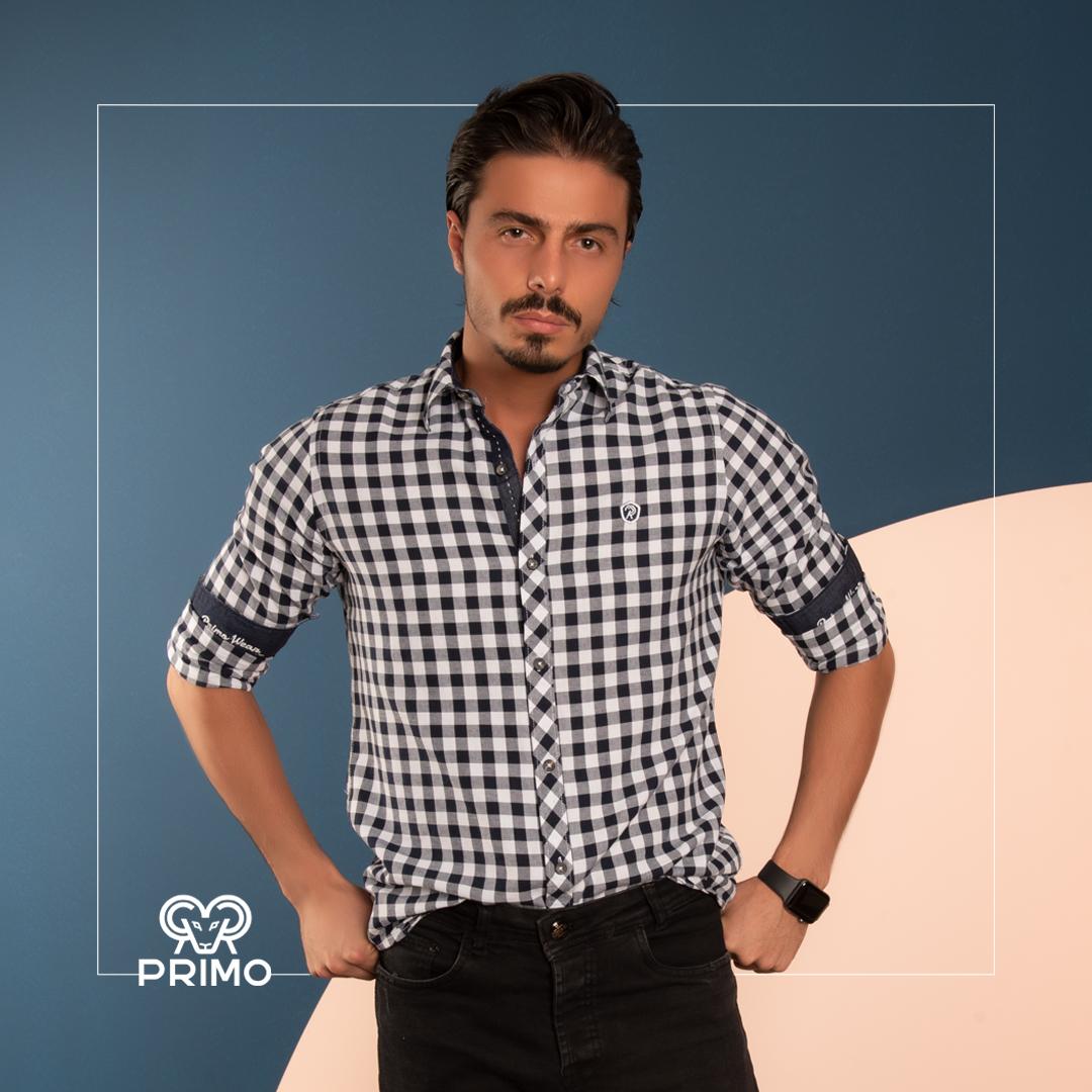 پیراهن پنبه مردانه مدل آستین بلند چهارخانه 236602