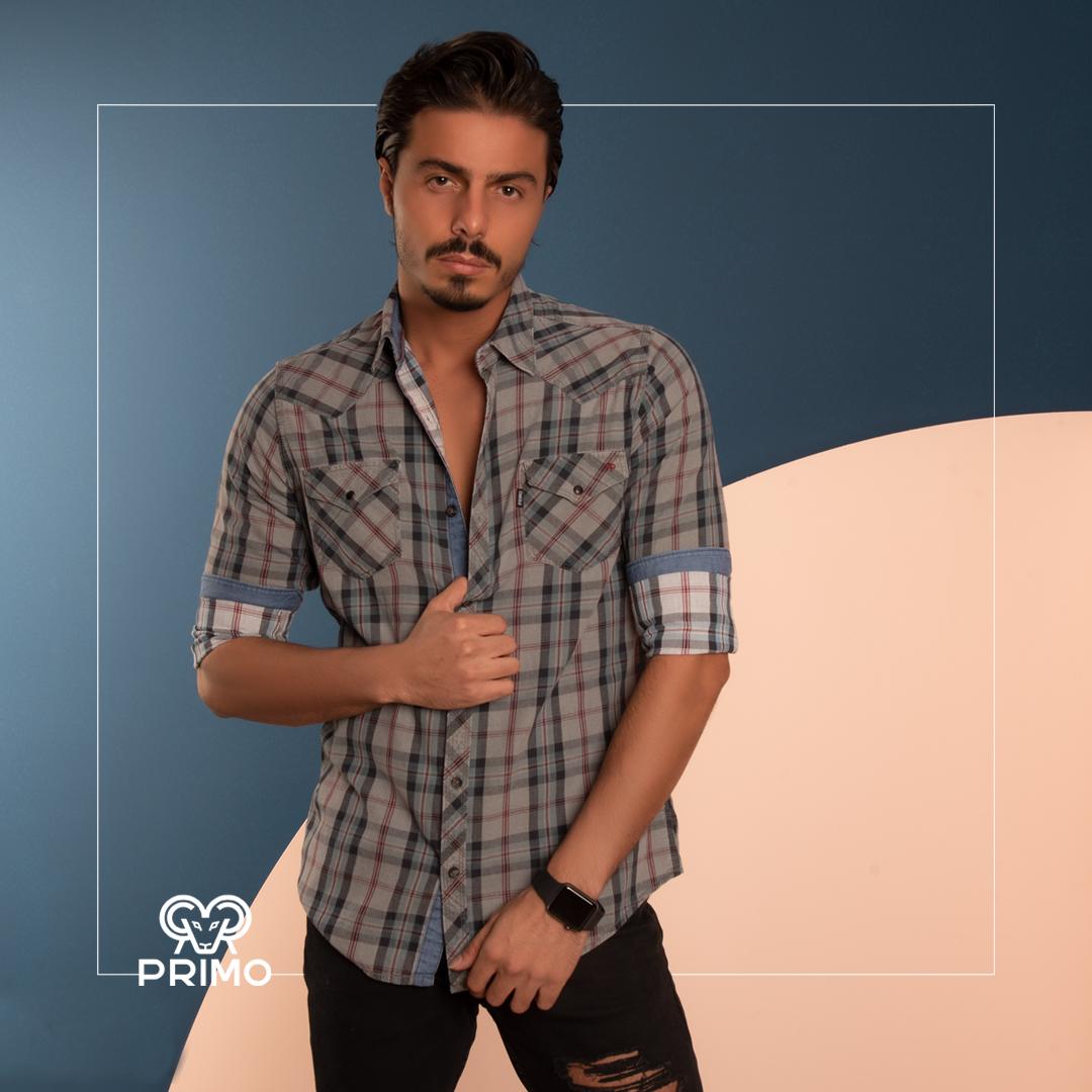 پیراهن کتان چهارخانه 236702