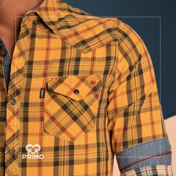 پیراهن کتان آستین بلند 236704
