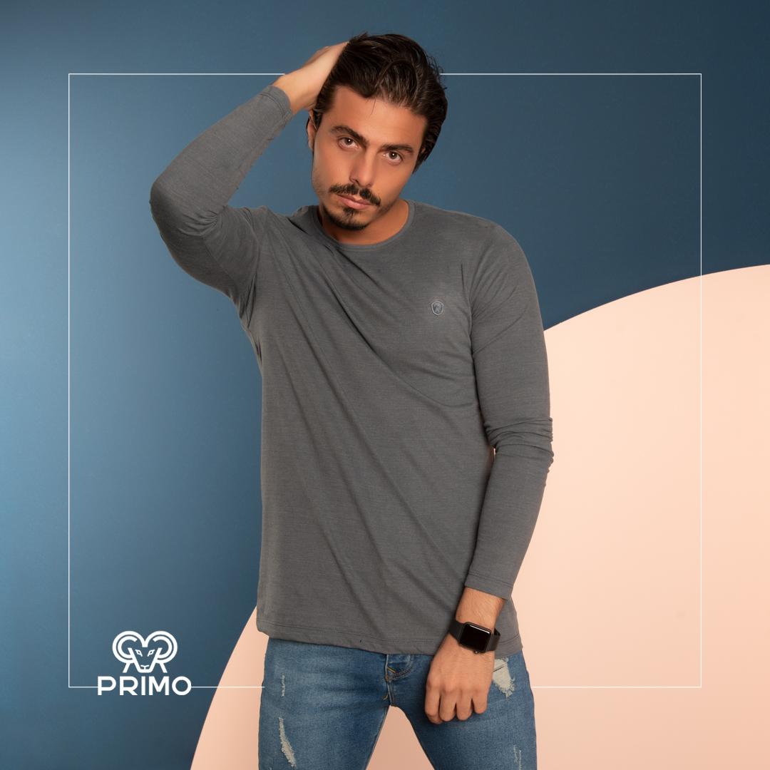 تیشرت پنبه مردانه مدل آستین بلند 513203