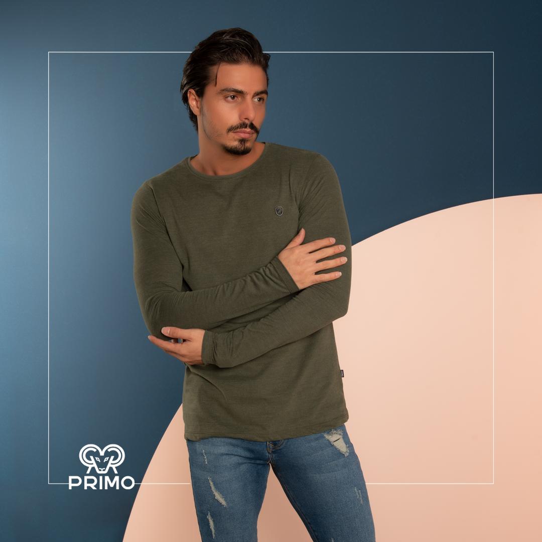 تیشرت پنبه مردانه مدل آستین بلند 513206
