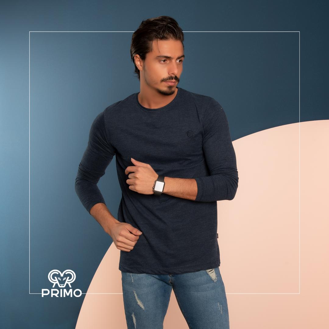 تیشرت پنبه مردانه مدل آستین بلند ۵۱۳۲۰۱