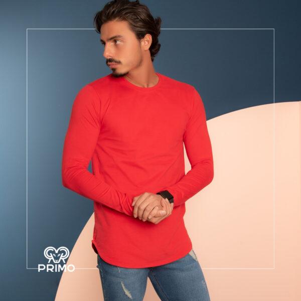 تیشرت پنبه مردانه مدل آستین بلند ساده 513302