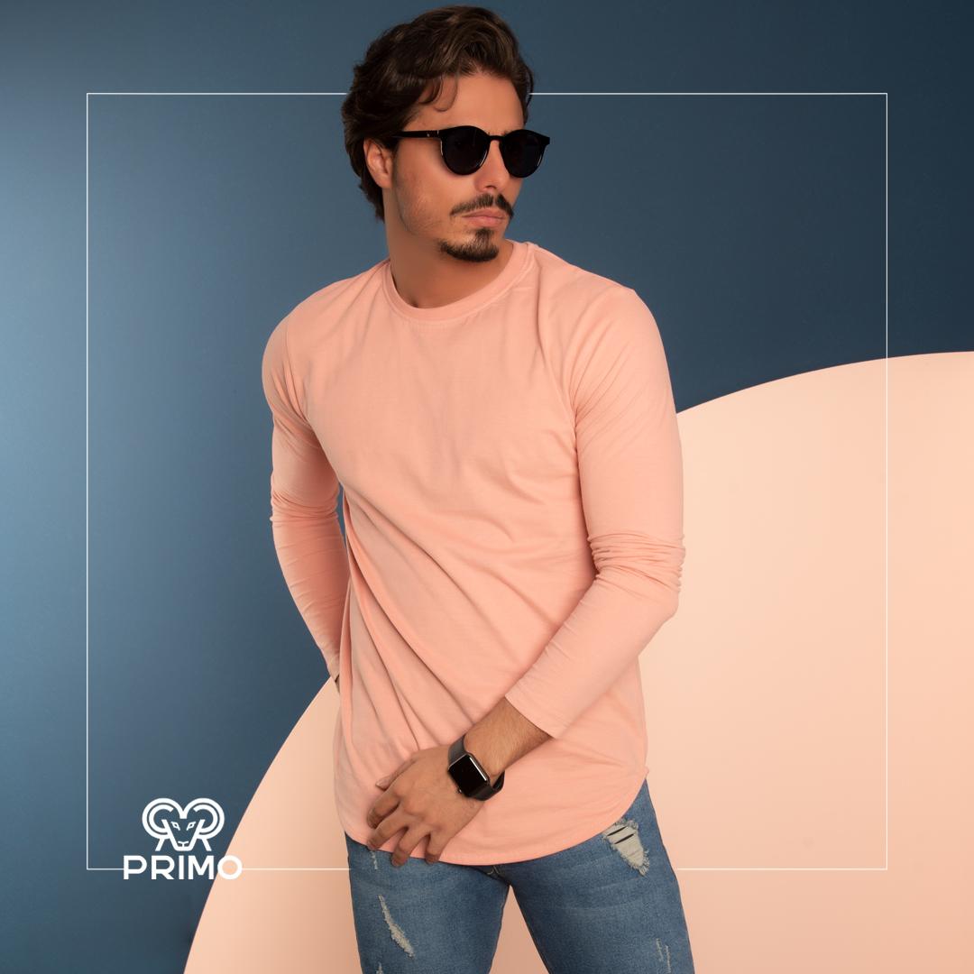 تیشرت پنبه مردانه مدل آستین بلند ساده ۵۱۳۳۱۱