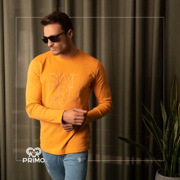 تیشرت پنبه مردانه مدل آستین بلند ضخیم 514006