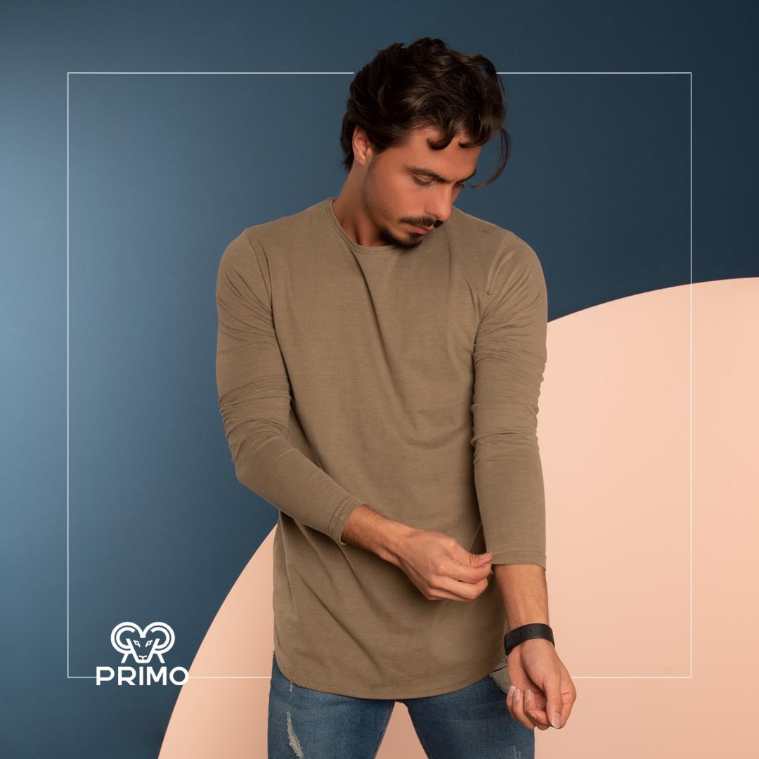 تیشرت پنبه مردانه مدل آستین بلند ۵۱۳۱۰۳