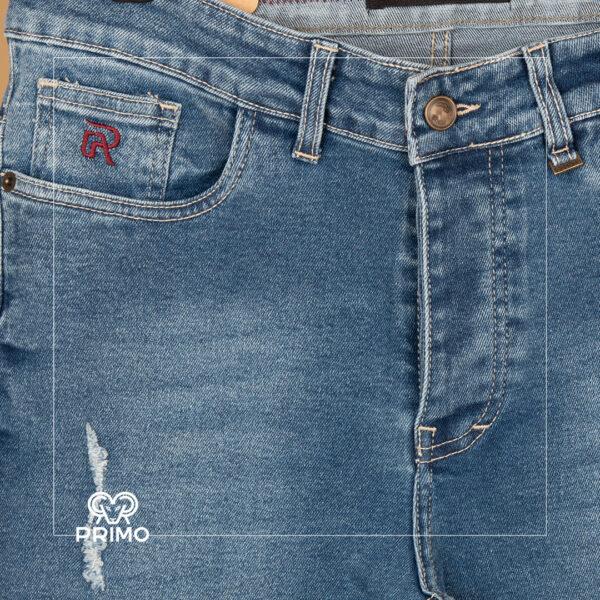 شلوار جین اسلیم فیت زاپ دار سایز بزرگ 4164/125