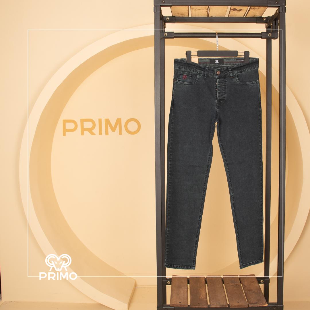 شلوار جین اسلیم فیت ساده سایز بزرگ 4164/123