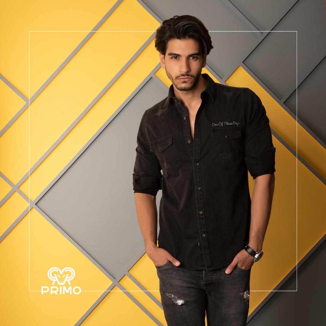 پیراهن جین مردانه مدل زاپدار دو جیب 237201