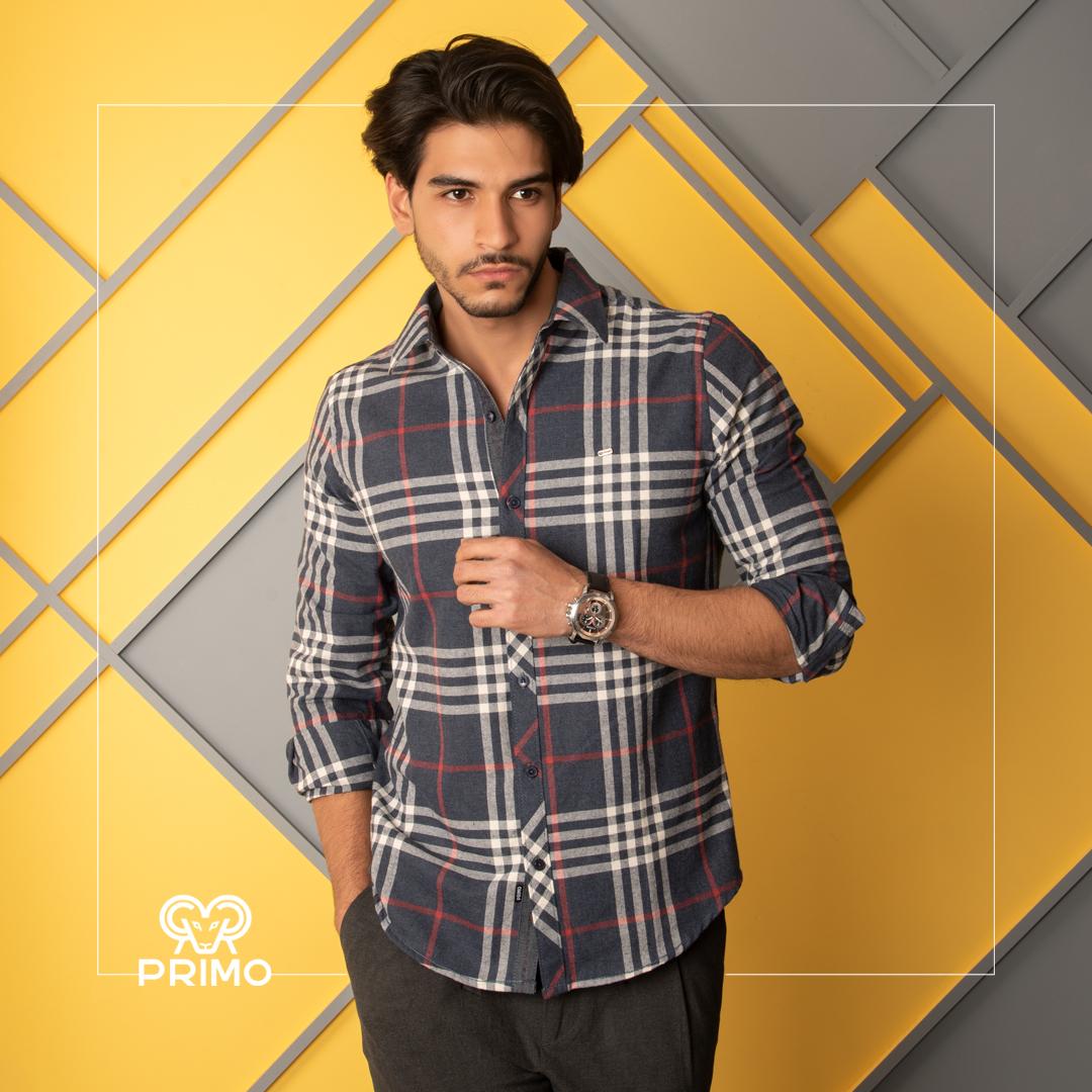 پیراهن پشمی چهارخانه ۲۳۷۶۰۱