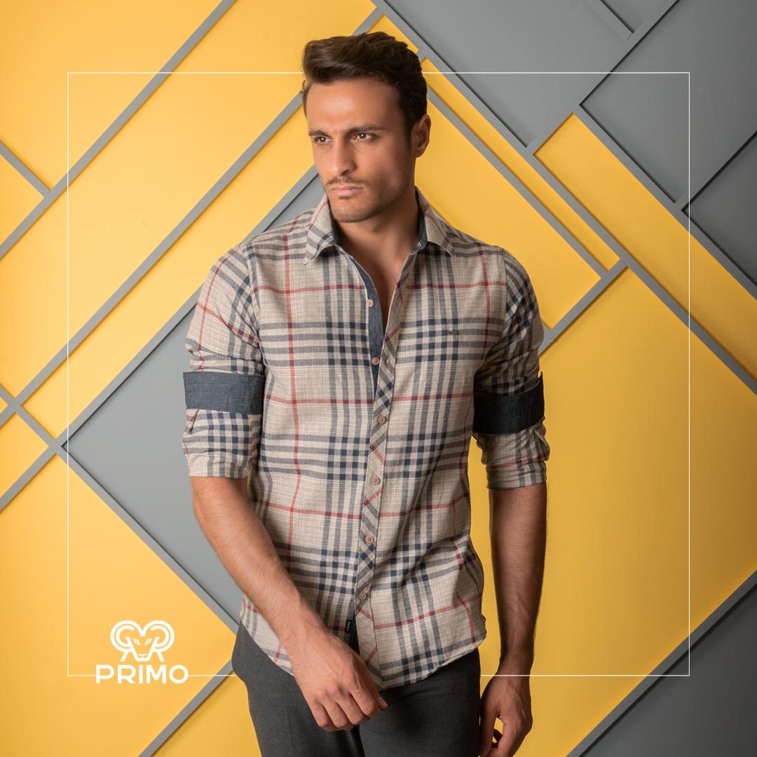 پیراهن پشمی مردانه مدل آستین بلند چهارخانه ۲۳۷۶۰۳