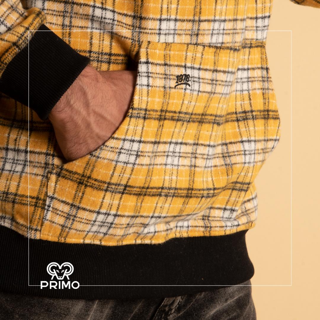 هودی پشمی مردانه مدل چهارخانه 237902