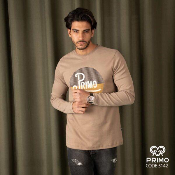 تیشرت پنبه مردانه مدل آستین بلند چاپی 514205