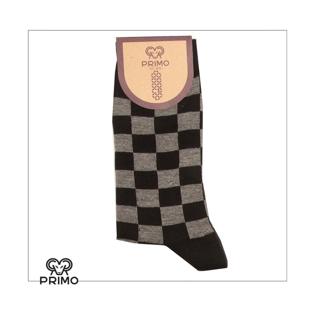 جوراب ساق بلند مردانه چهارخانه شطرنجی ۹۸۰۰۰۲۰۱