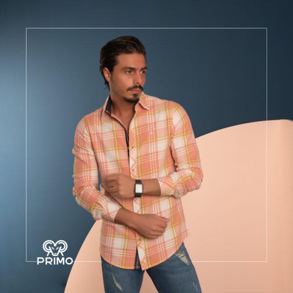 پیراهن پنبه چهارخانه 236107