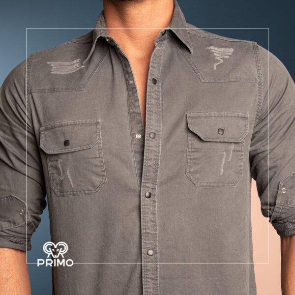 پیراهن کتان آستین بلند 236407