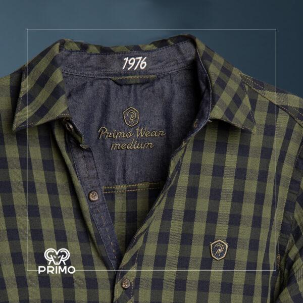 پیراهن پنبه چهارخانه 236604