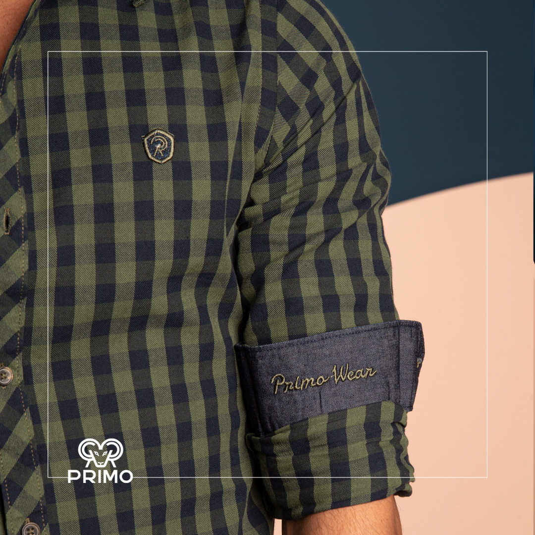 پیراهن پنبه مردانه مدل آستین بلند چهارخانه ۲۳۶۶۰۴