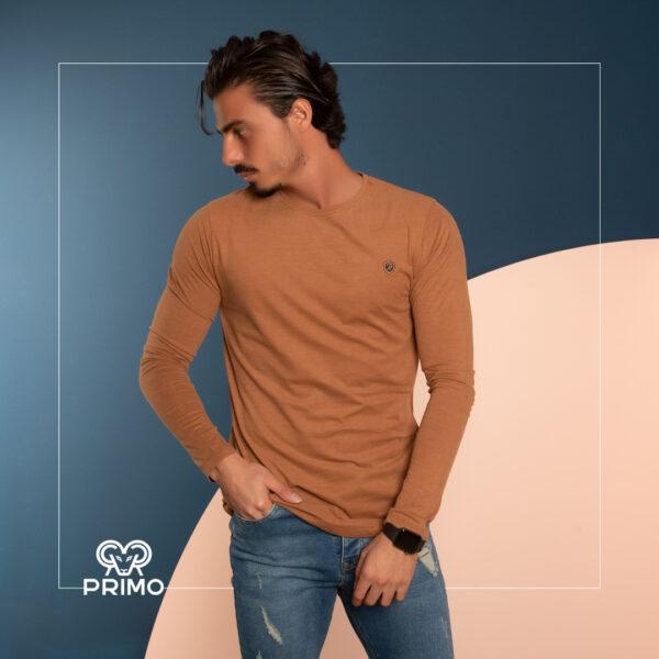 تیشرت پنبه مردانه مدل آستین بلند 513205