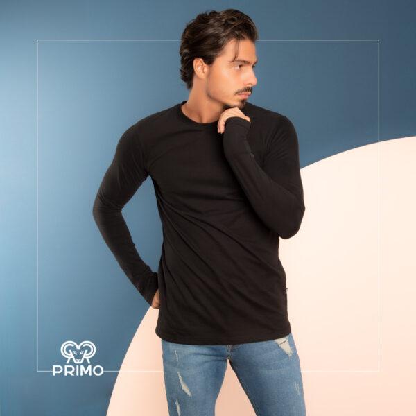 تیشرت پنبه مردانه مدل آستین بلند 513204
