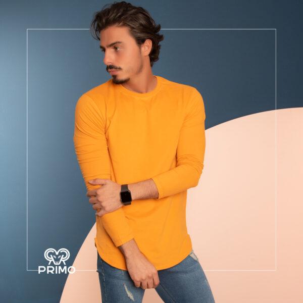 تیشرت پنبه مردانه مدل آستین بلند ساده 513305