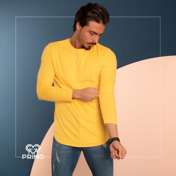 تیشرت پنبه مردانه مدل آستین بلند ساده 513306