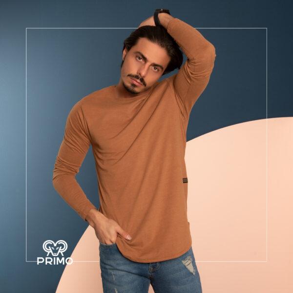 تیشرت پنبه مردانه مدل آستین بلند 513108