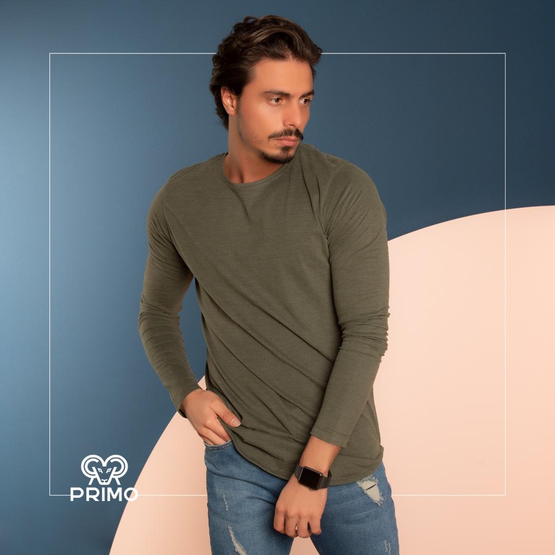 تیشرت پنبه مردانه مدل آستین بلند ۵۱۳۱۰۴