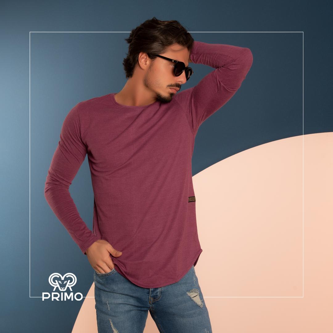 تیشرت پنبه مردانه مدل آستین بلند ۵۱۳۱۰۲