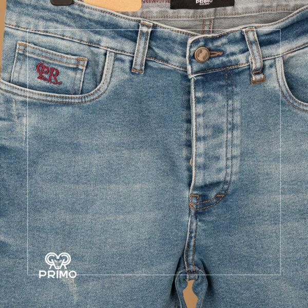 شلوار جین اسلیم فیت زاپ دار سایز بزرگ 4164/124