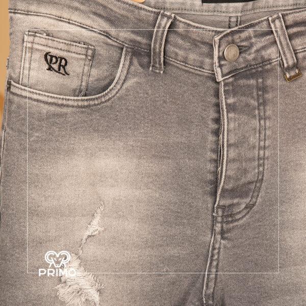 شلوار جین اسلیم فیت زاپ دار سایز بزرگ 4164/117