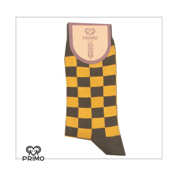 جوراب ساق بلند مردانه چهارخانه شطرنجی 98000205